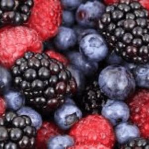 Piros bogyós gyümölcsök