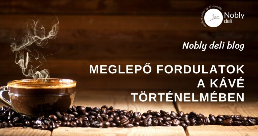 Egy csésze gőzölgő kávé